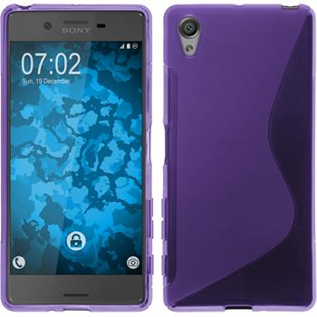 Silicone Case for Sony Xperia X S-Style purple