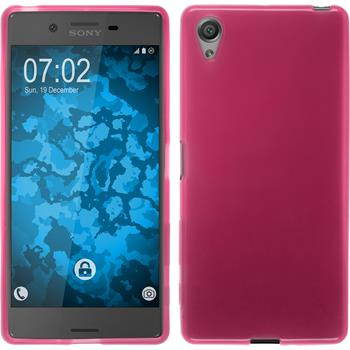 Silicone Case for Sony Xperia X transparent pink