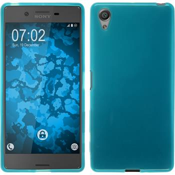 Silicone Case for Sony Xperia X transparent turquoise