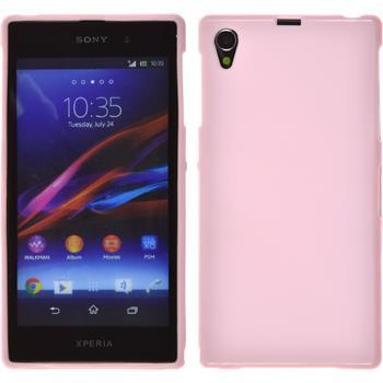 Silicone Case for Sony Xperia Z1 matt pink