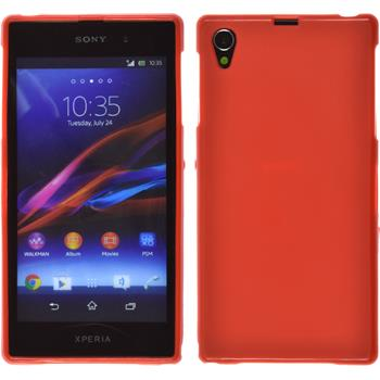 Silicone Case for Sony Xperia Z1 matt red