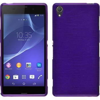 Silicone Case for Sony Xperia Z3 brushed purple