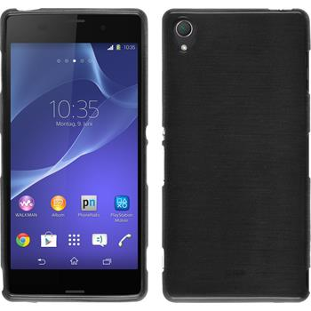 Silicone Case for Sony Xperia Z3 brushed silver