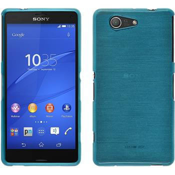 Silicone Case for Sony Xperia Z3 Compact brushed blue