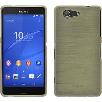 Silicone Case for Sony Xperia Z3 Compact brushed gold