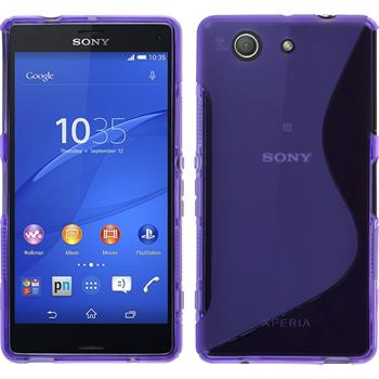 Silicone Case for Sony Xperia Z3 Compact S-Style purple
