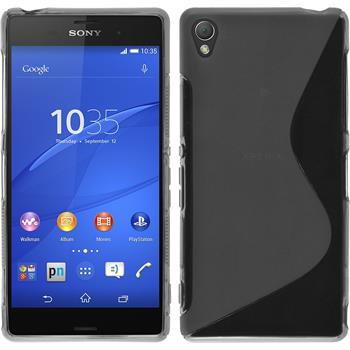 Silicone Case for Sony Xperia Z3 S-Style gray