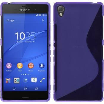 Silicone Case for Sony Xperia Z3 S-Style purple