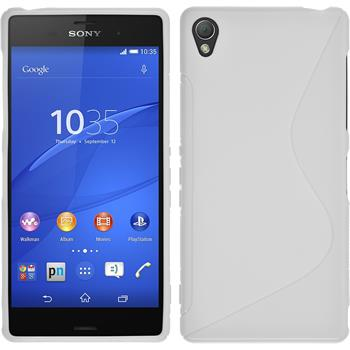 Silicone Case for Sony Xperia Z3 S-Style white