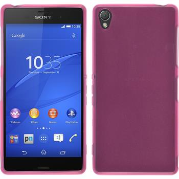 Silicone Case for Sony Xperia Z3 transparent pink