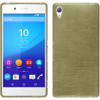 Silicone Case for Sony Xperia Z3+ brushed gold