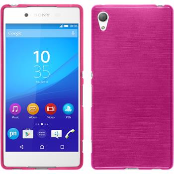 Silicone Case for Sony Xperia Z3+ brushed hot pink
