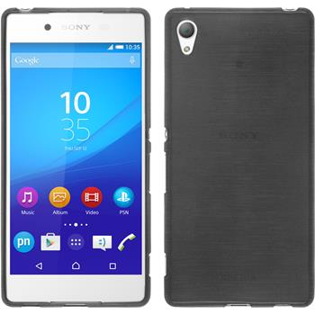 Silicone Case for Sony Xperia Z3+ brushed silver