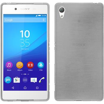 Silicone Case for Sony Xperia Z3+ brushed white