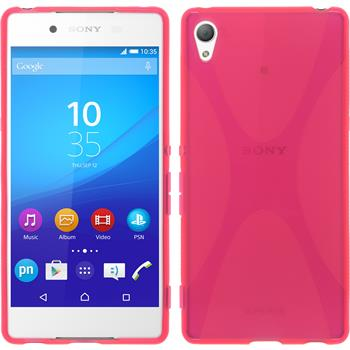 Silicone Case for Sony Xperia Z3+ X-Style hot pink