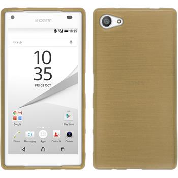 Silicone Case for Sony Xperia Z5 compact brushed gold