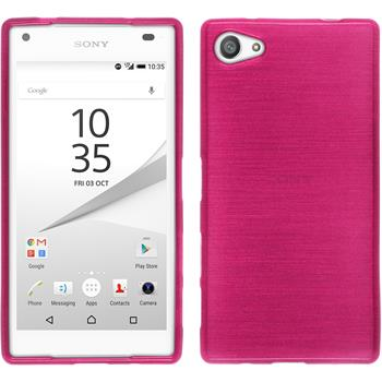 Silicone Case for Sony Xperia Z5 compact brushed hot pink
