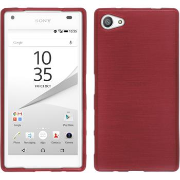 Silicone Case for Sony Xperia Z5 compact brushed pink