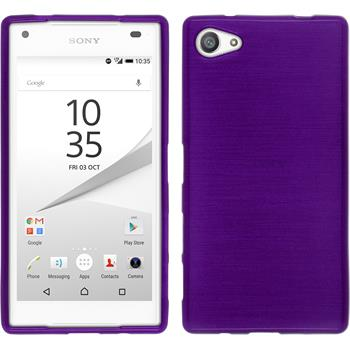 Silicone Case for Sony Xperia Z5 compact brushed purple
