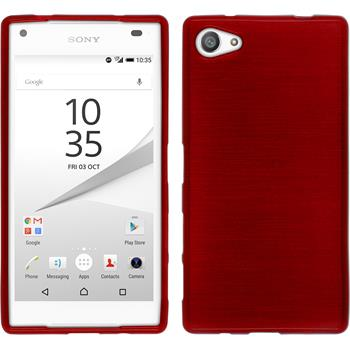 Silicone Case for Sony Xperia Z5 compact brushed red