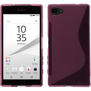Silicone Case for Sony Xperia Z5 Compact S-Style hot pink