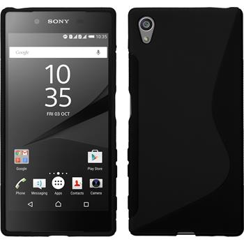 Silicone Case for Sony Xperia Z5 S-Style black