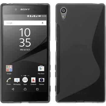 Silicone Case for Sony Xperia Z5 S-Style gray