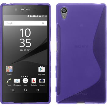 Silicone Case for Sony Xperia Z5 S-Style purple