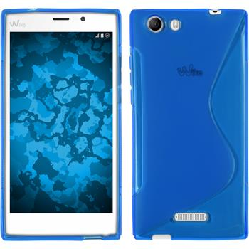 Silicone Case for Wiko Ridge Fab 4G S-Style blue