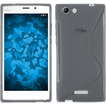 Silicone Case for Wiko Ridge Fab 4G S-Style gray