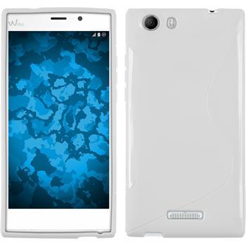 Silicone Case for Wiko Ridge Fab 4G S-Style white