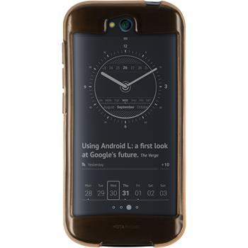Silicone Case for Yota Yotaphone 2 transparent gold