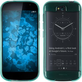 Silicone Case for Yota Yotaphone 2 transparent turquoise