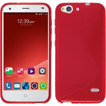 Silicone Case for ZTE Blade S6 Plus S-Style red