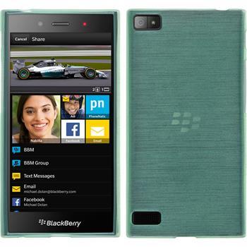Silikonhülle für BlackBerry Z3 brushed grün