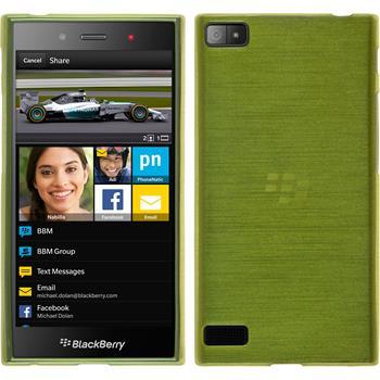 Silikonhülle für BlackBerry Z3 brushed pastellgrün