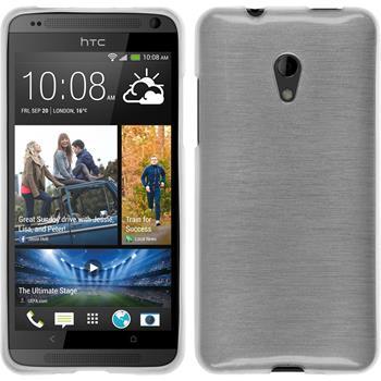 Silikonhülle für HTC Desire 700 brushed weiß