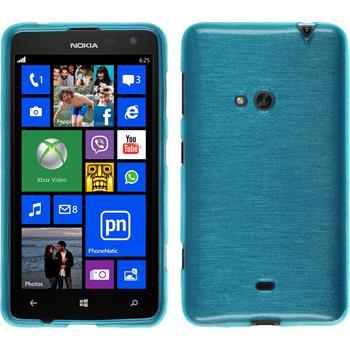 Silikonhülle für Nokia Lumia 625 brushed blau