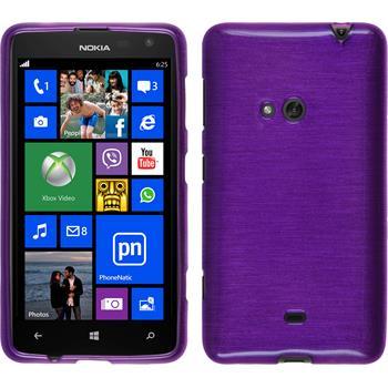 Silikon Hülle Lumia 625 brushed lila