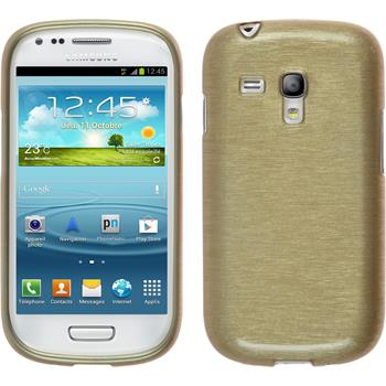 Silicone Case for Samsung Galaxy S3 Mini brushed gold
