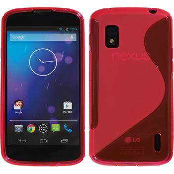 Silicone Case for Google Nexus 4 S-Style hot pink