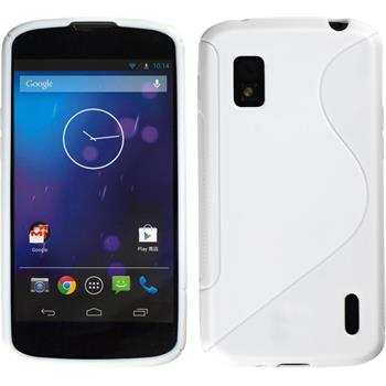 Silicone Case for Google Nexus 4 S-Style white