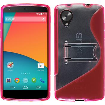 Silicone Case for Google Nexus 5  hot pink