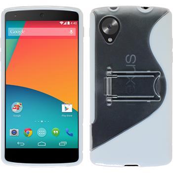 Silikon Hülle Nexus 5  weiß + 2 Schutzfolien