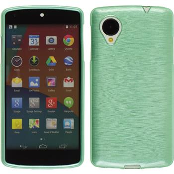 Silicone Case for Google Nexus 5 brushed green