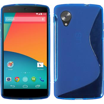 Silicone Case for Google Nexus 5 S-Style blue