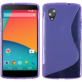 Silikon Hülle Nexus 5 S-Style lila