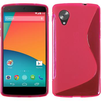Silicone Case for Google Nexus 5 S-Style hot pink