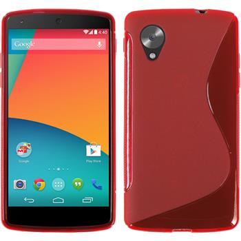 Silicone Case for Google Nexus 5 S-Style red