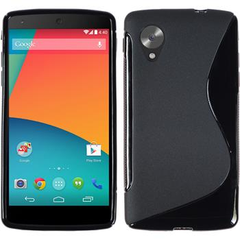 Silicone Case for Google Nexus 5 S-Style black